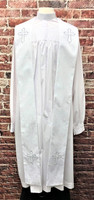001. Gershon Clergy Stole in White & Silver