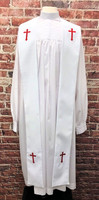 001. Preacher Clergy Stole in White & Red