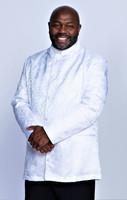 001. Men's Joshua Clergy Jacket in White
