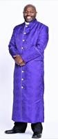 001. Men's Joshua Clergy Robe in Purple & Gold
