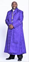 0001. Men's Joshua Bishop Vestment in Purple & Gold - 5 Pieces Included