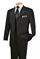2-Piece 3-Button Formal Tuxedo In Black