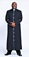 001. Men's Adam Clergy Robe in Black & White