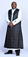 002. Joshua Clergy Robe & Chimere Set in White & Black