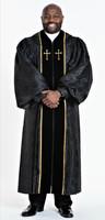 0001 Men's JT Wesley Pulpit Robe in Black