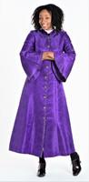 001 Ladies 1-Piece Designer Clergy Dress In Purple