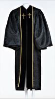 0001 Ladies JT Wesley Pulpit Robe in Black