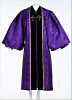 Ladies JT Wesley Pulpit Robe in Purple