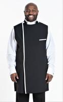 Modern Clergy Apron In Black & White