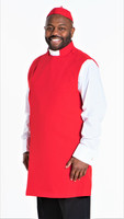 Clergy Apron Set In Red With Matching Zucchetto