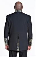 001. Men's Joseph Clergy Jacket in Black & Gold