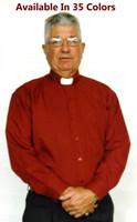 Basic Tab Collar Clergy Shirt: 35 COLORS Available