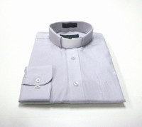 Tab Collar Affordable Clergy Shirt in Silver