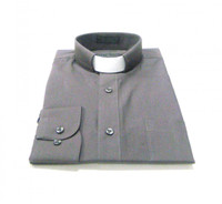Tab Collar Affordable Clergy Shirt in Charcoal