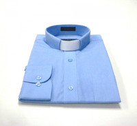 Tab Collar Affordable Clergy Shirt in Light Blue