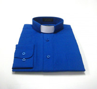 Tab Collar Affordable Clergy Shirt in Royal Blue