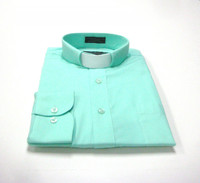 Tab Collar Affordable Clergy Shirt in Aqua