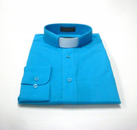 Tab Collar Affordable Clergy Shirt in Turquoise