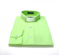 Tab Collar Affordable Clergy Shirt in Apple Green