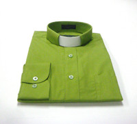 Tab Collar Affordable Clergy Shirt in Dark Lime