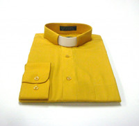 Tab Collar Affordable Clergy Shirt in Gold