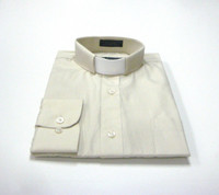 Tab Collar Affordable Clergy Shirt in Beige