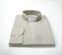 Tab Collar Affordable Clergy Shirt in Sand