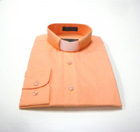 Tab Collar Affordable Clergy Shirt in Peach