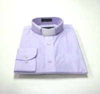 Tab Collar Affordable Clergy Shirt in Lavender