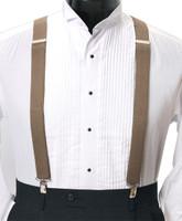 Men's Clip-On Suspender Set In BEIGE