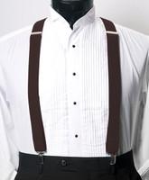 Men's Clip-On Suspender Set In BROWN