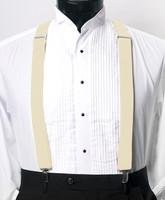 Men's Clip-On Suspender Set In IVORY