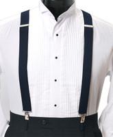 Men's Clip-On Suspender Set In NAVY