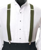 Men's Clip-On Suspender Set In OLIVE