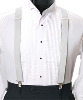 Men's Clip-On Suspender Set In WHITE