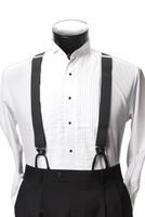 Men's Button-Hold Suspender Set In SILVER/GRAY