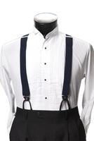Men's Button-Hold Suspender Set In NAVY BLUE