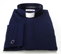 Tab Collar Men's French-Cuff Clerical Shirt