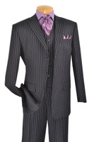 3-Piece Classic Pin Stripe Suit In Navy