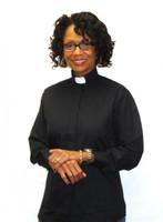 Tab Collar Ladies Clergy Shirt in BLACK