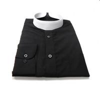 Banded Collar Affordable Clergy Bishop Shirt Black