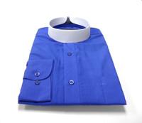 Banded Collar Affordable Clergy Bishop Shirt Royal