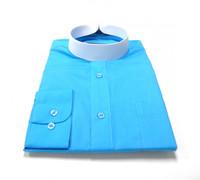 Banded Collar Affordable Clergy Bishop Shirt Teal