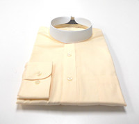 Banded Collar Affordable Clergy Bishop Shirt Butter