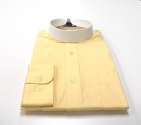 Banded Collar Affordable Clergy Bishop Shirt Canary