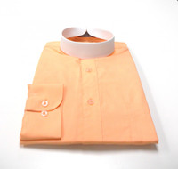 Banded Collar Affordable Clergy Bishop Shirt in Peach