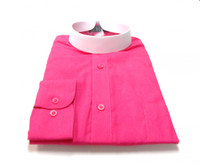 Banded Collar Affordable Clergy Bishop Shirt in Fuschia
