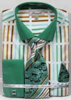 Dress Shirt, Tie, Handkerchief, & Cufflink Set - FRV4133