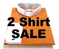 2 Two-Tone Clergy Shirts For $69.99 - 11 Colors Available