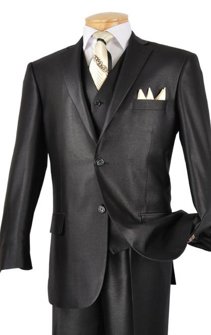 Single Breasted 2-Button Short, Vest by Vinci V2RR-1